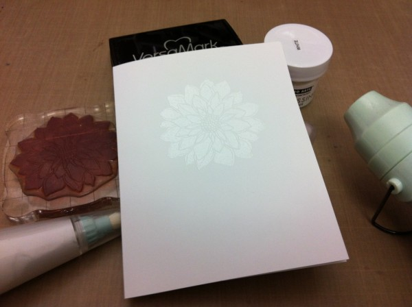 heat embossed hero arts white embossing powder