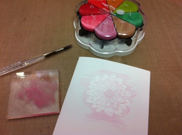 paint with waffleflower petal point ink