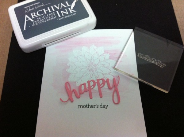 stamp hero arts sentiment mother's day in ranger watering can