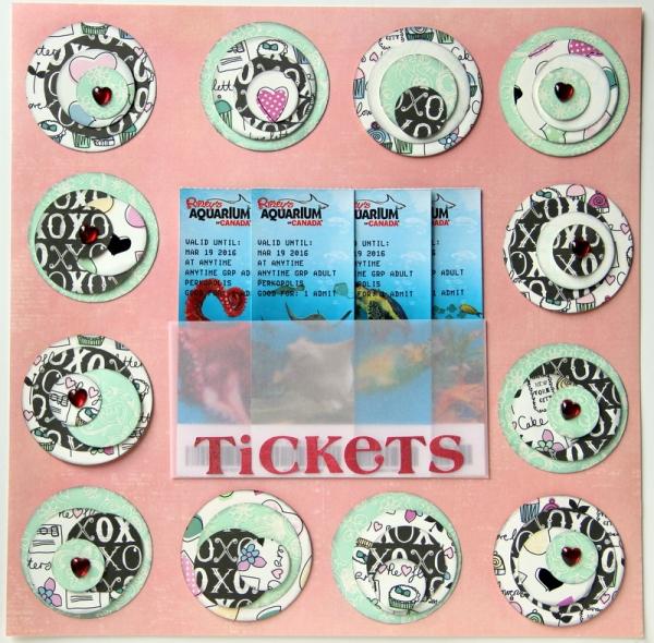 Scrapbook memorabilia aquarium tickets