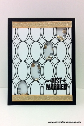 winnie&walter shaker Just married card