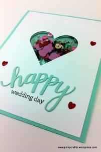 Hero Arts happy wedding day shaker card