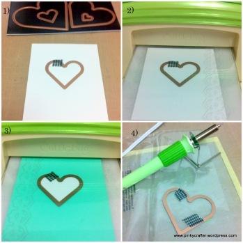 step by step tutorial of Hero arts Happy Wedding Day shaker card