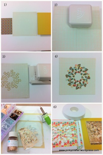 Thanks shaker card using Martha stewart cut and fold petal punch tutorial stepbystep