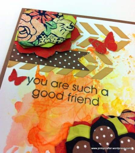 mixed media you are such a good friend card