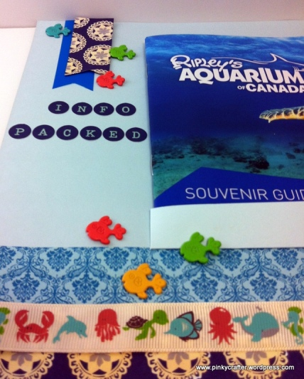scrapbook memorabilia of aquarium guidebook