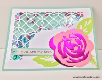 crate paper You are my Fave shaker card