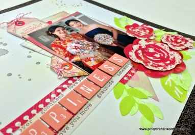 wedding layout using crate paper confetti die