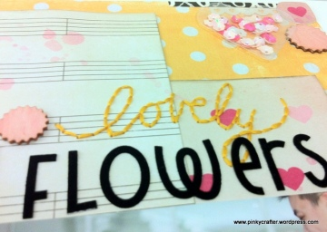 Shaker Wedding Flowers scrapbook layout
