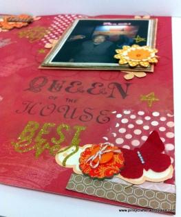 Queen texture past scrapbok layout