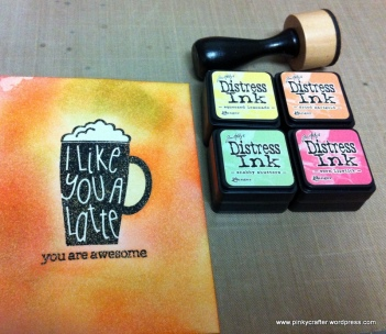 bokeh i like you a latte card