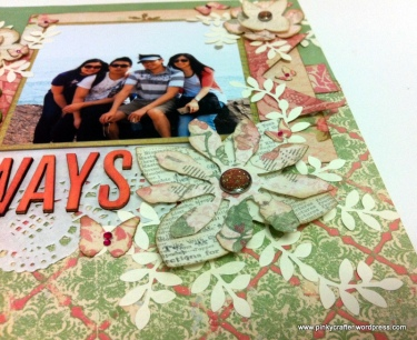 friends always scrapbook layout close up flowers