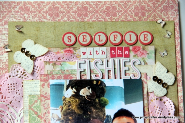 Selfies with the Fishes scrapbook layout