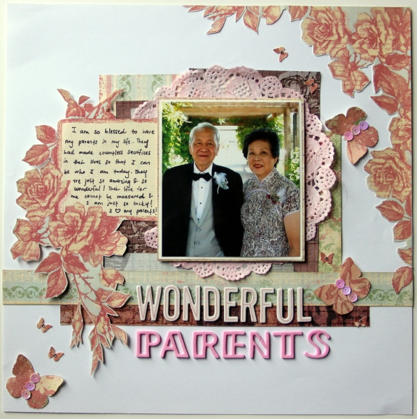 Wonderful parents scrapbook layout