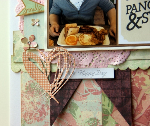 We go together like pancakes & syrup scrapbook layout close up