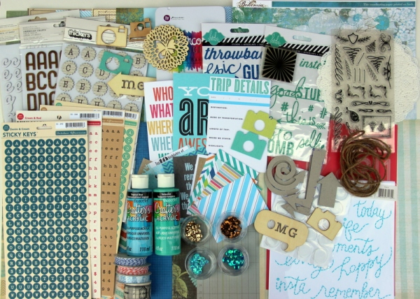 July Counterfeit Kit - homemade scrapbook kit