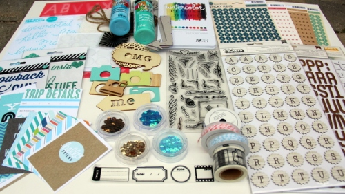 July Counterfeit Kit - homemade scrapbook kit embellishments