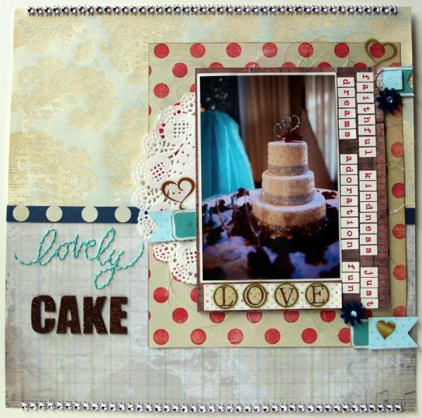 lovely cake scrapbook layout