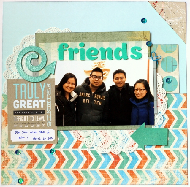 Friends scrapbook layout