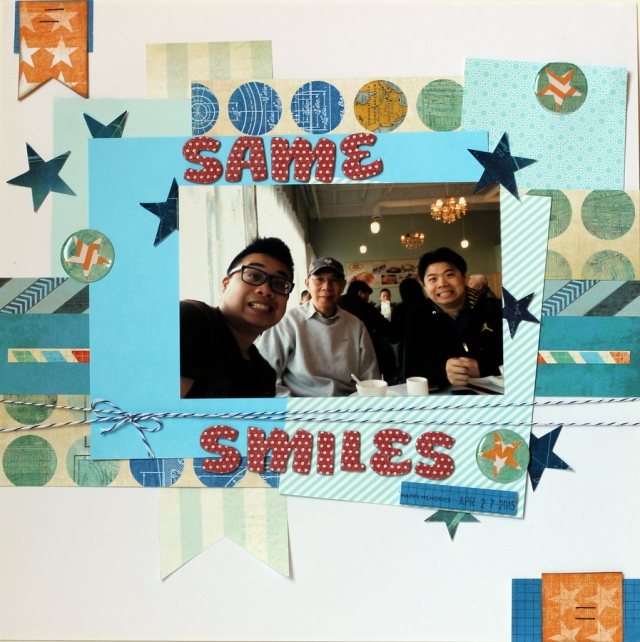 Same smiles scrapbook layout