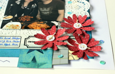korean style chicken scrapbook layoutkorean style chicken scrapbook layout