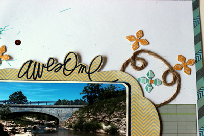 Awesome View Scrapbook Layout