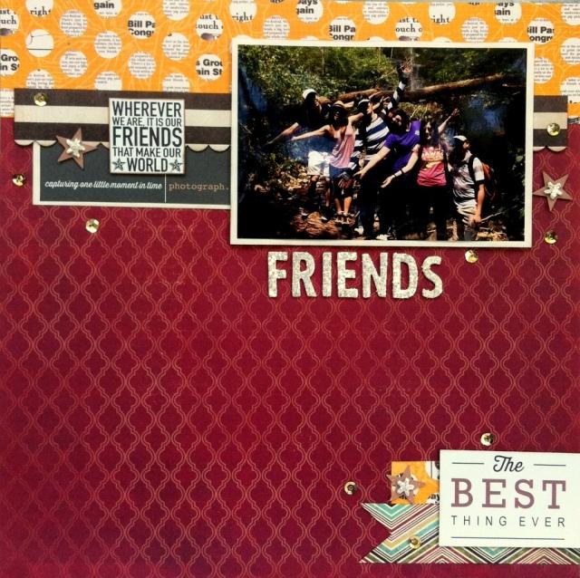friends scrapbook layout
