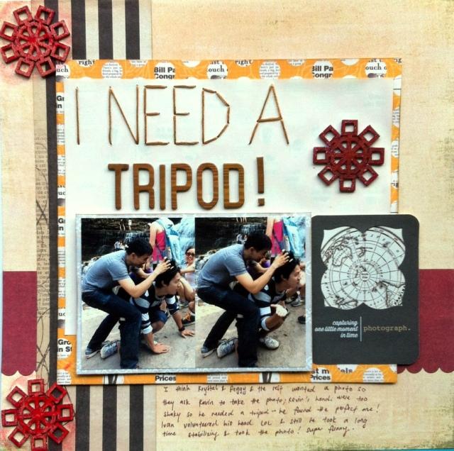 I need a tripod scrapbook layout