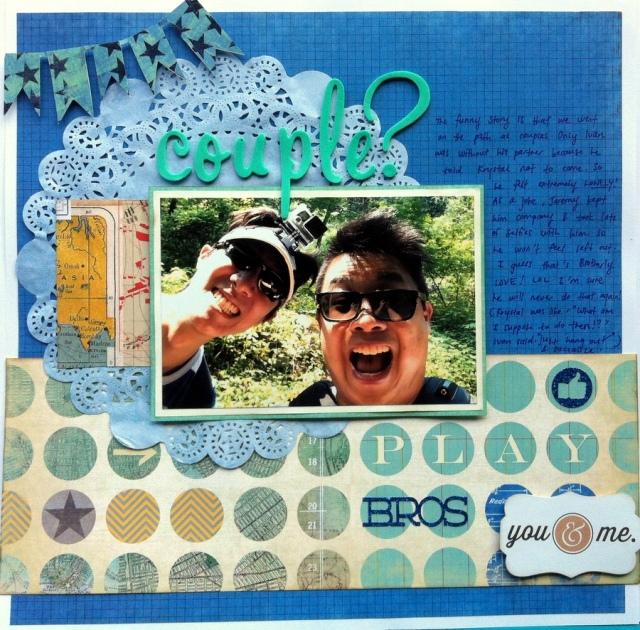 couple? scrapbook layout