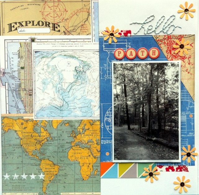 hello path scrapbook layout