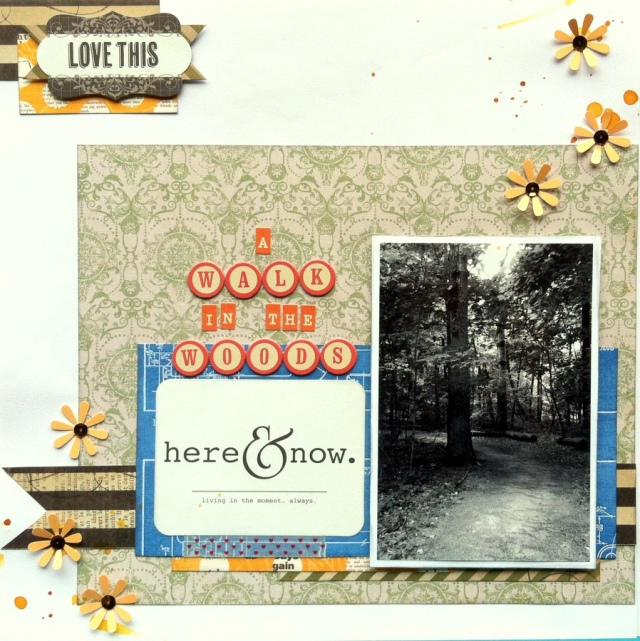 A path in the woods scrapbook layout