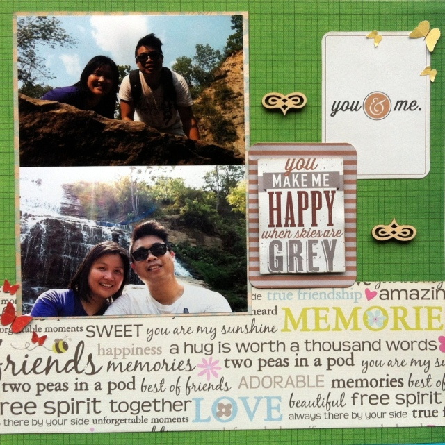you make me happy scrapbook layout