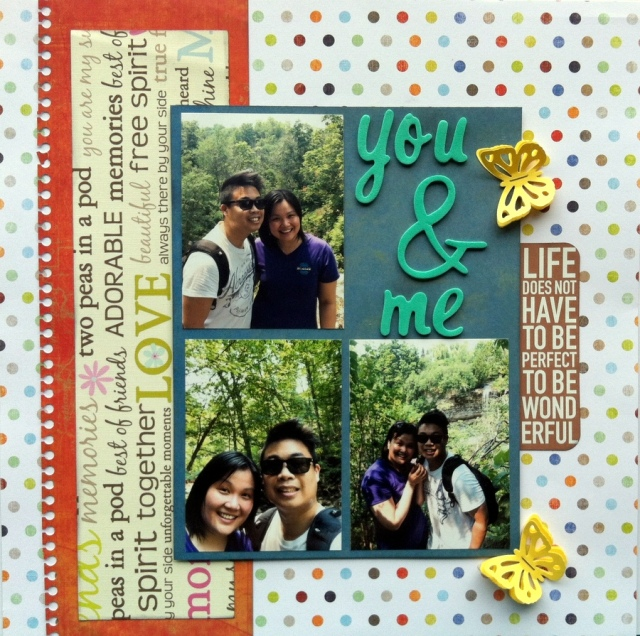 you and me scrapbook layout