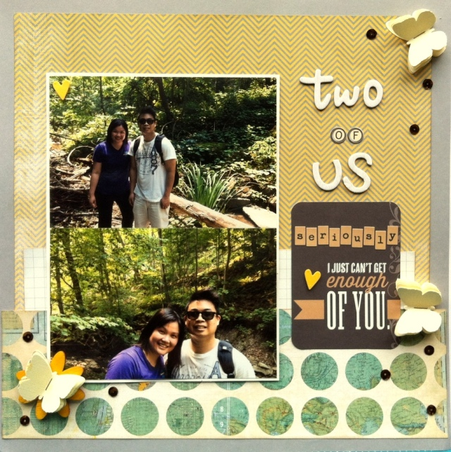 Two of Us Scrapbook layout