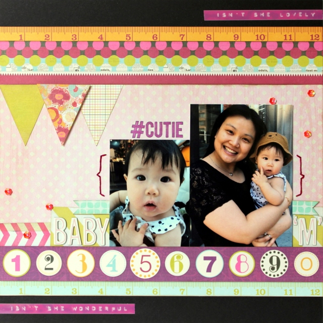 BABY M scrapbook layout