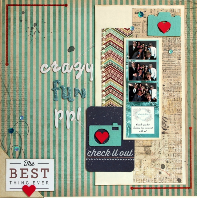 scrapping photobooth photos scrapbook layout