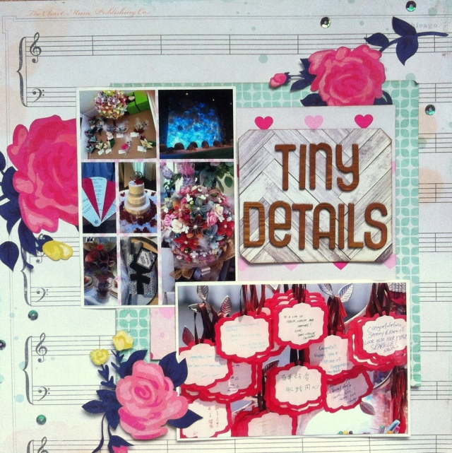 Tiny Details scrapbook layout