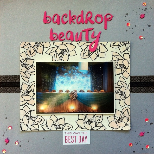 backdrop beauty scrapbook layout