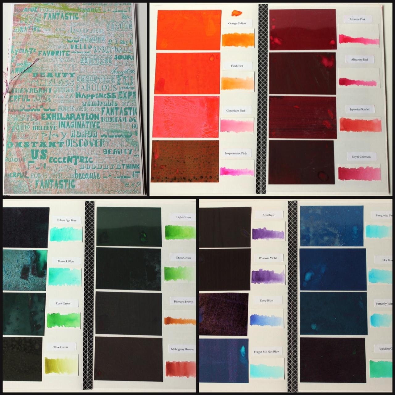Nicholsons Peerless Watercolors Color Swatch Derwent Inktense