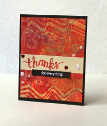 Thanks card