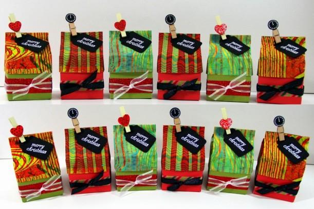 Gelli plate printed milk carton gift box