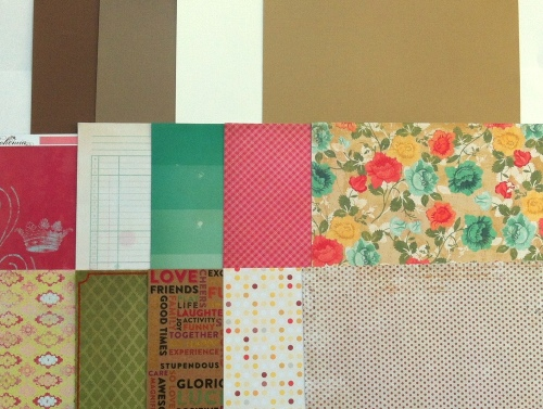 Set #1 DIY scrapbooking kit