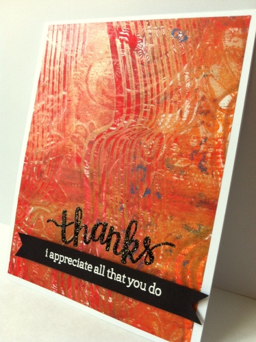 Thanks card side view