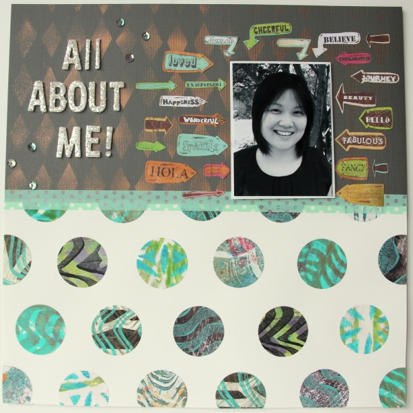All about me scrapbook layout