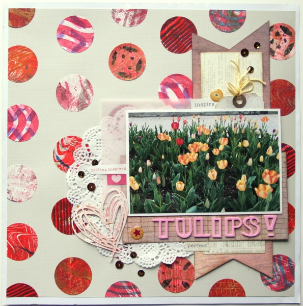 Tulips scrapbook layout
