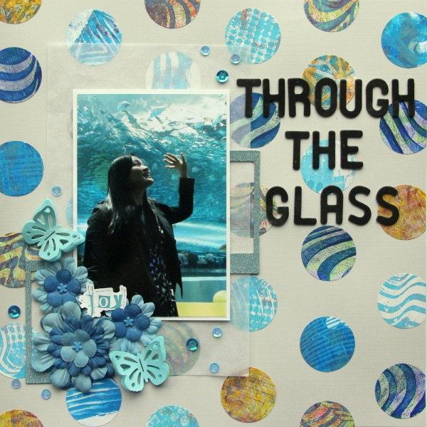 Through the glass scrapbook layout