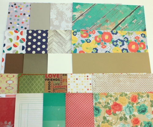 Patterned Papers for November Kit