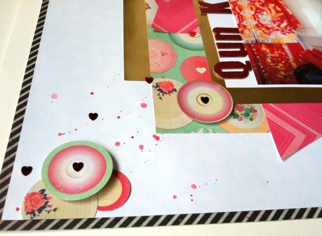 Qun Kwa scrapbook layout close up