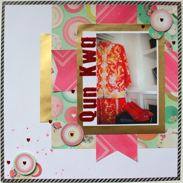 'Qun Kwa' Wedding Scrapbook Layout