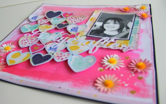 Pinkycrafter selfie scrapbook layout